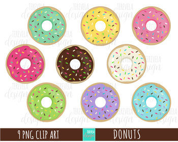Donuts food desserts . Donut clipart cute