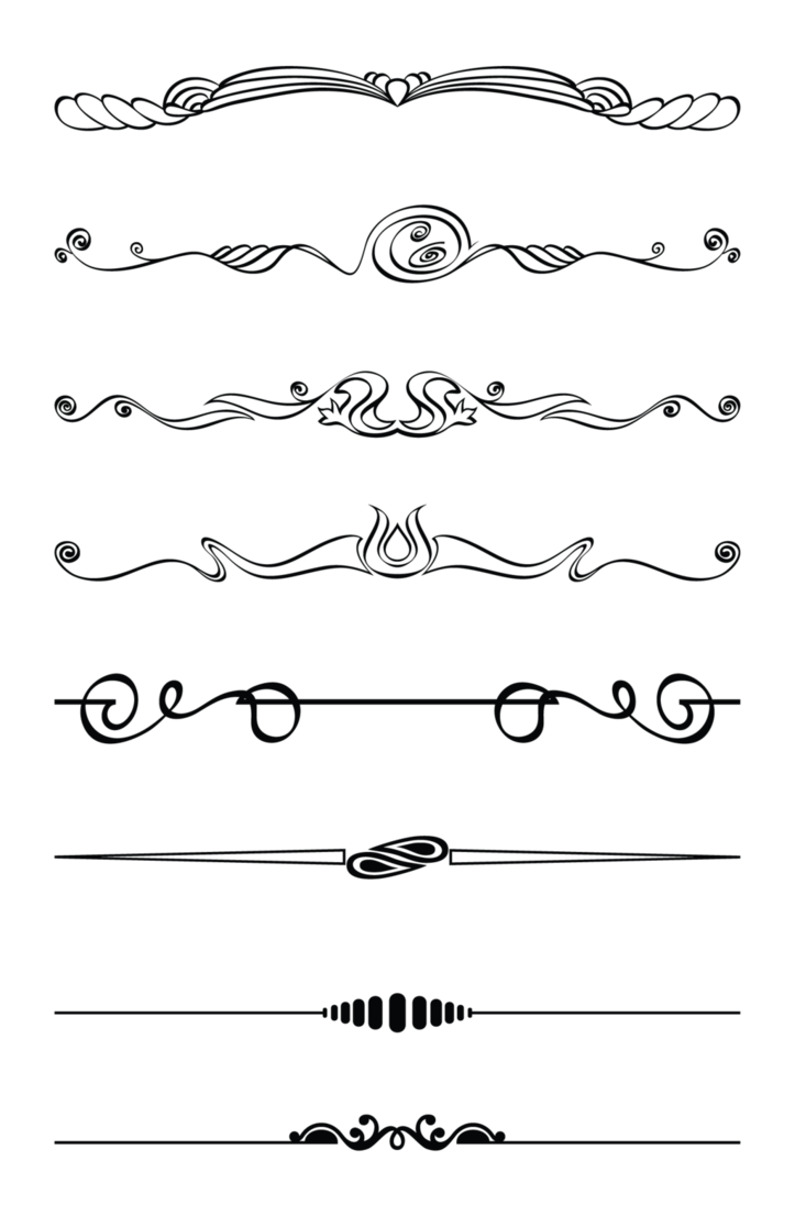 Divider clipart design line. Ornaments png by lg