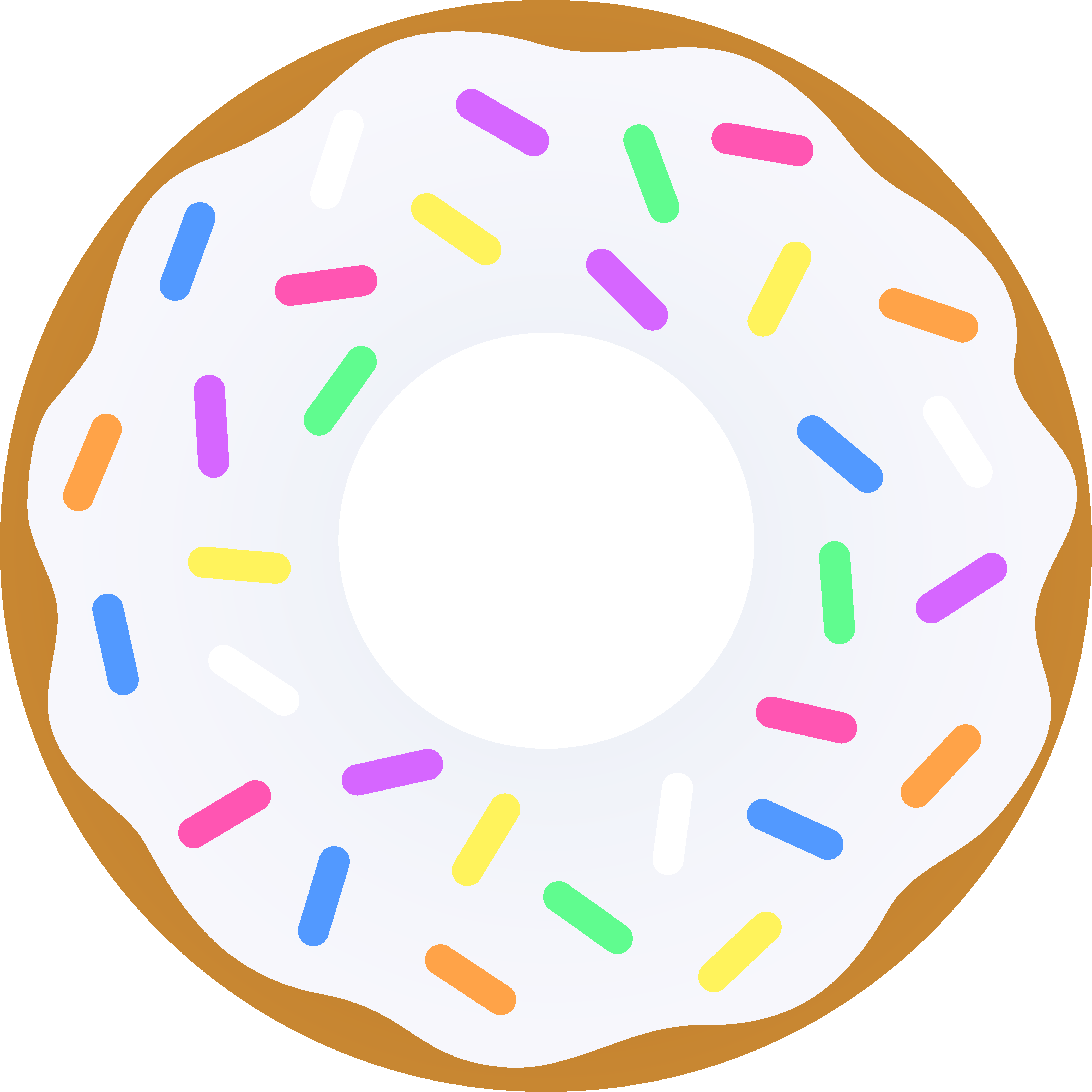 Vanilla with sprinkles free. Donut clipart face