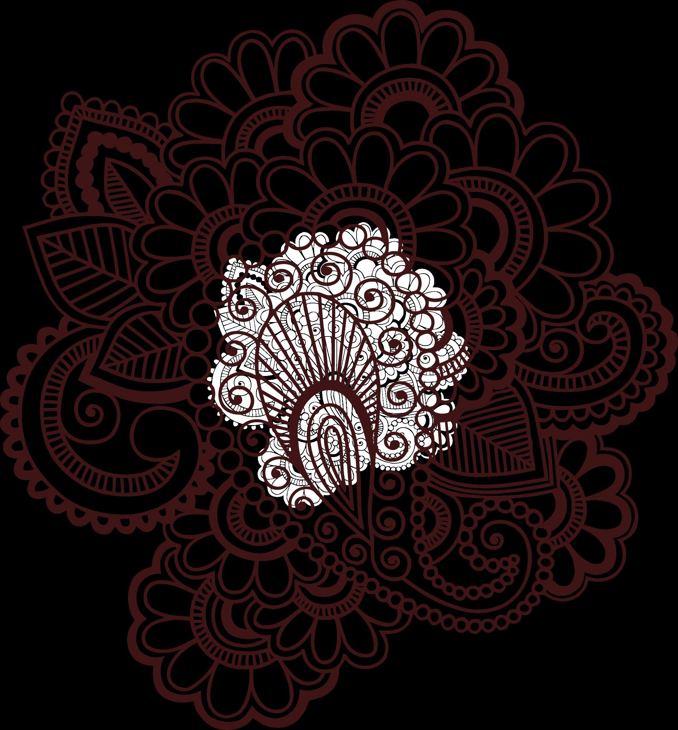 peacock clipart henna