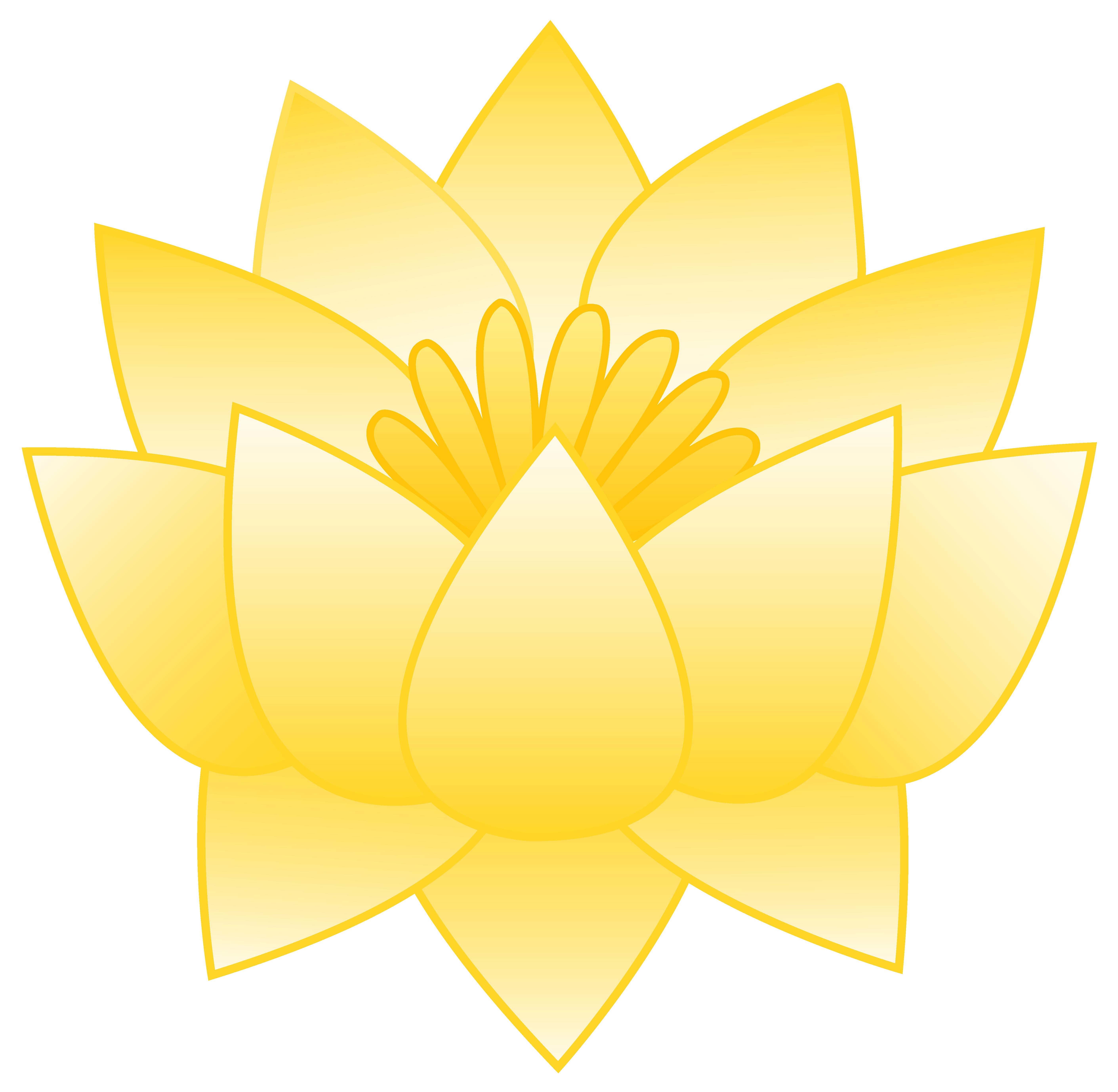Lotus clipart lotus plant. Yellow flower free clip