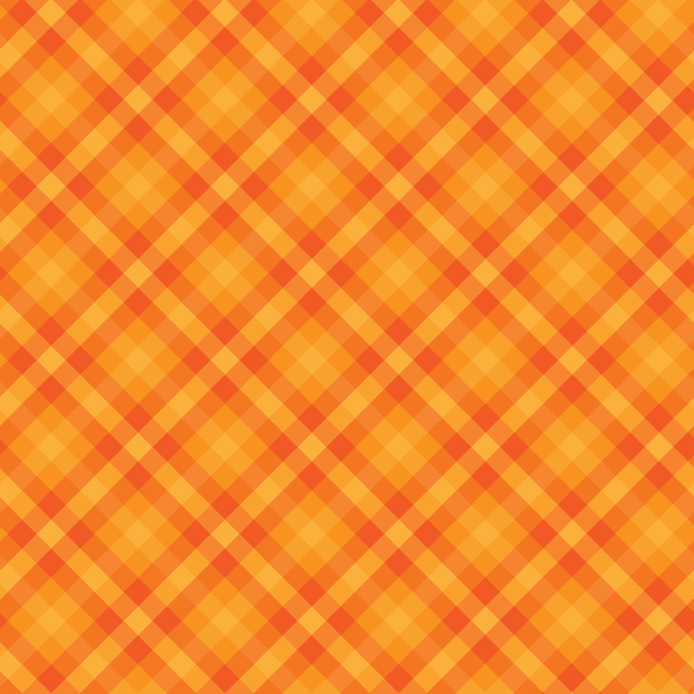 Design clipart orange. Gingham checkered background big