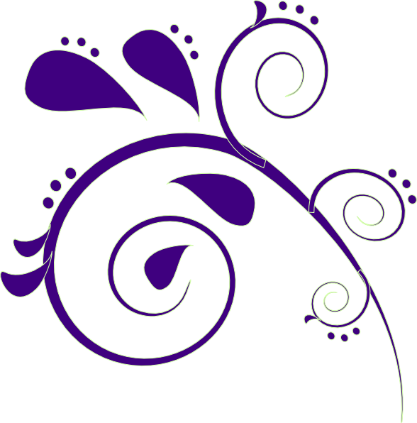 Paisley clipart boarder. Purple clip art at