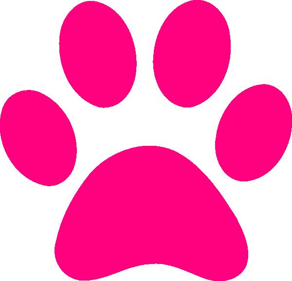 Pink hand fan panda. Pawprint clipart pug