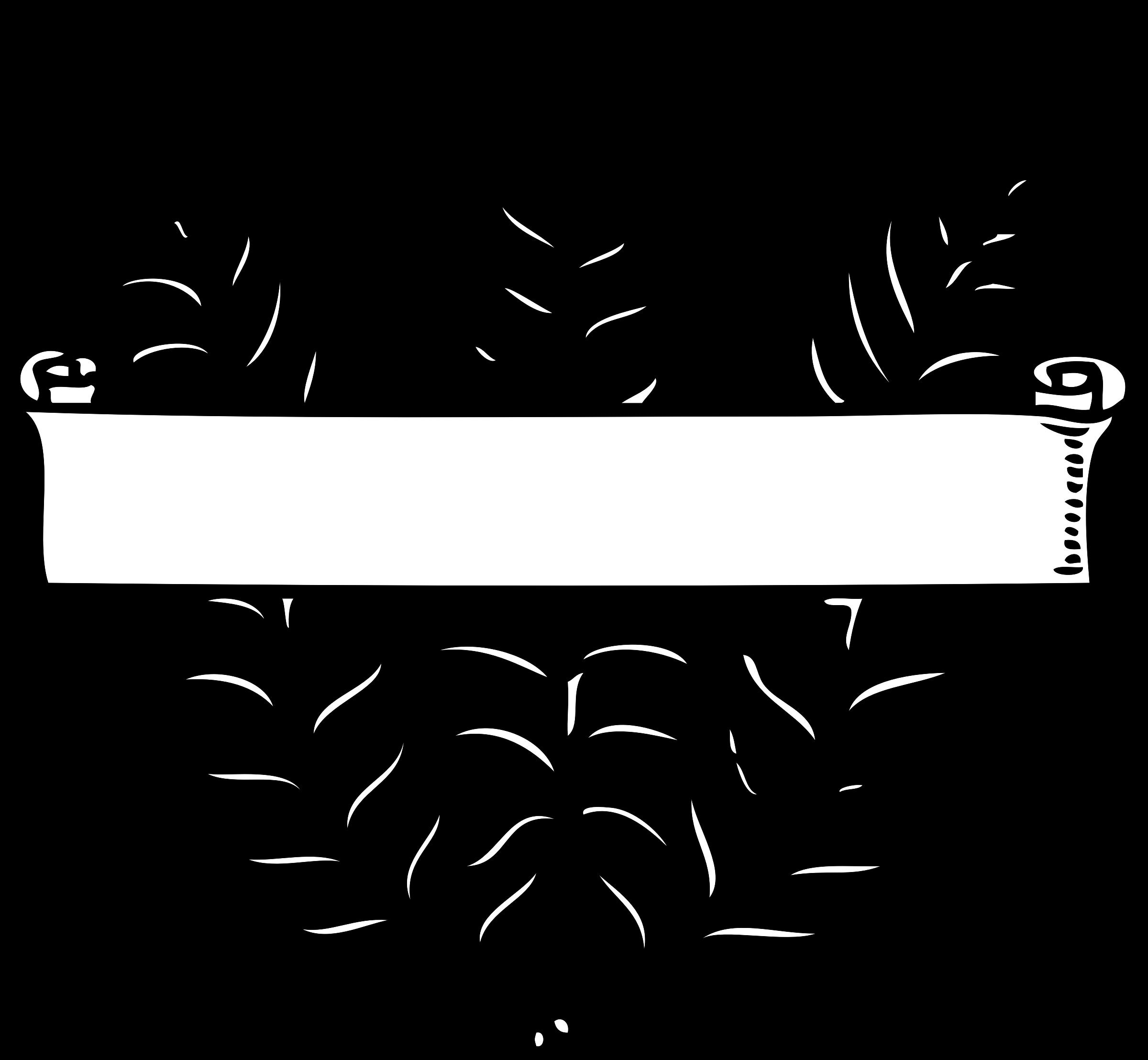 Scroll clipart elegant. Over ferns big image