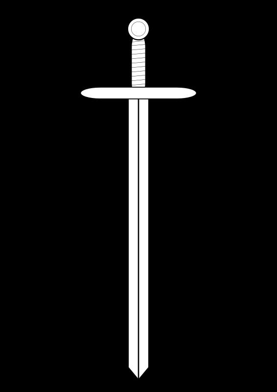 Line art medium image. Design clipart sword