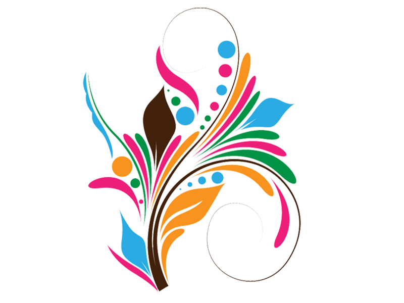 Abstract flower png transparent. Feather clipart carnival