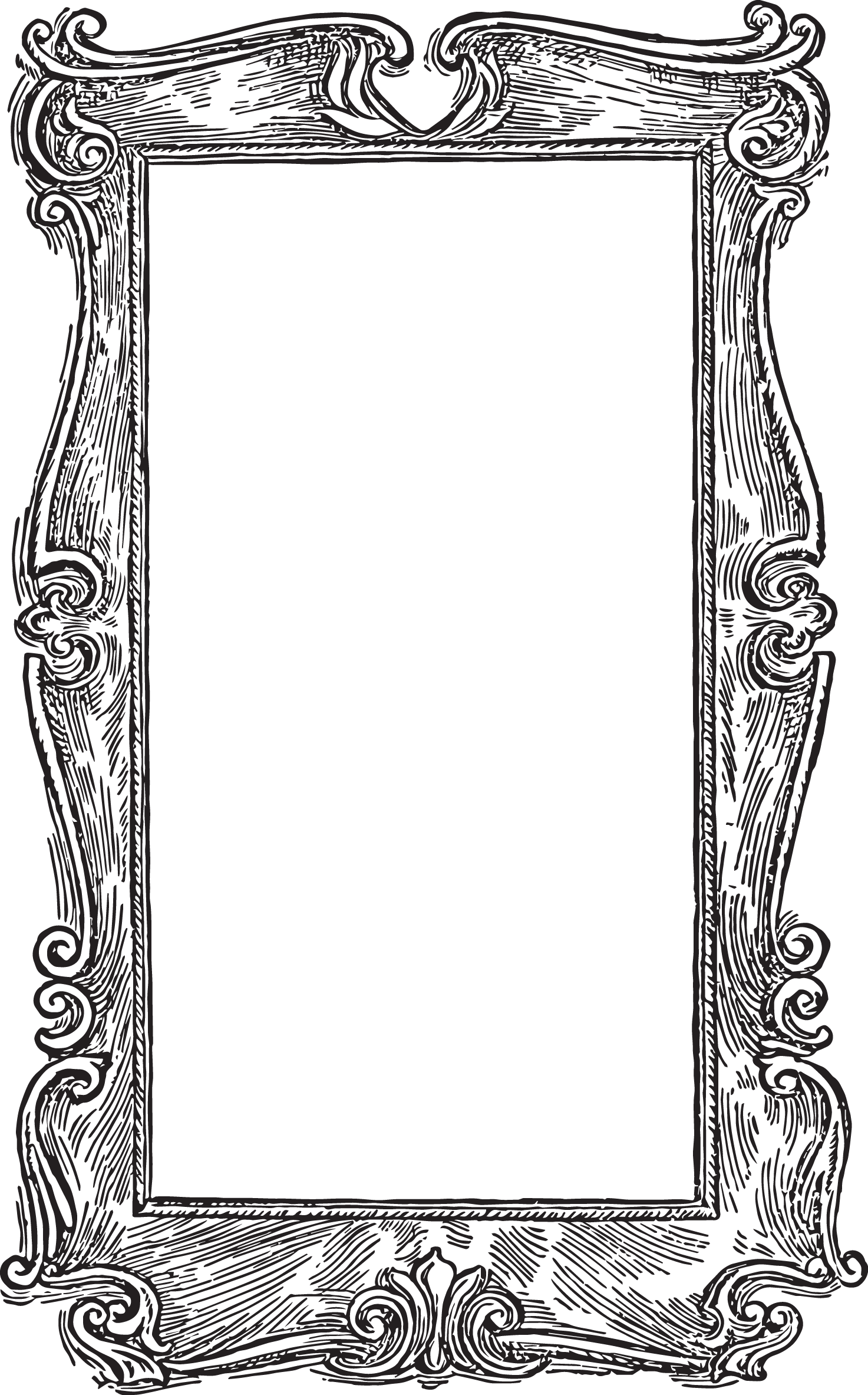 Fairy clipart borders. Vintage oval frames vector