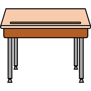 collection of student. Desk clipart