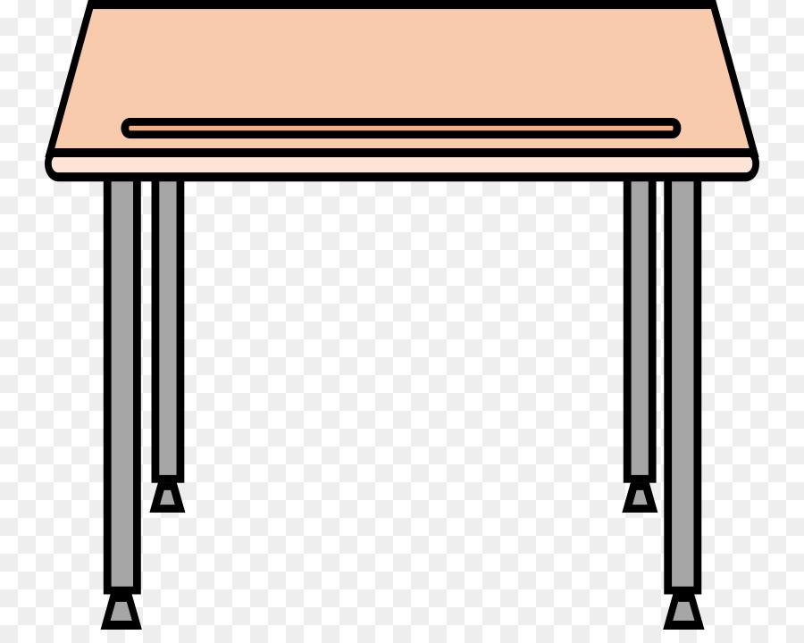 School table transparent clip. Desk clipart
