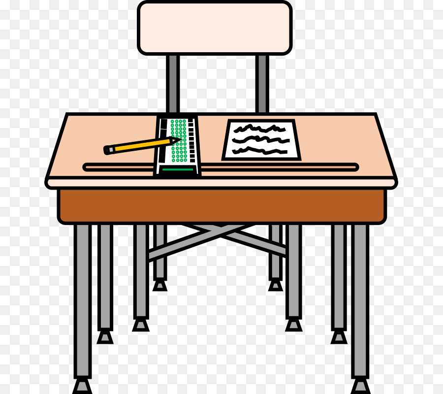 Desk clipart. Pencil cartoon table transparent