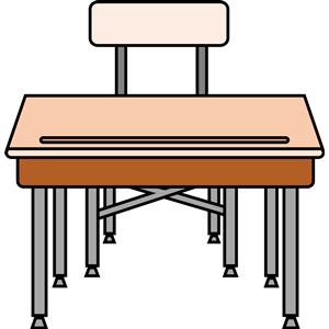 Empty student s cliparts. Desk clipart