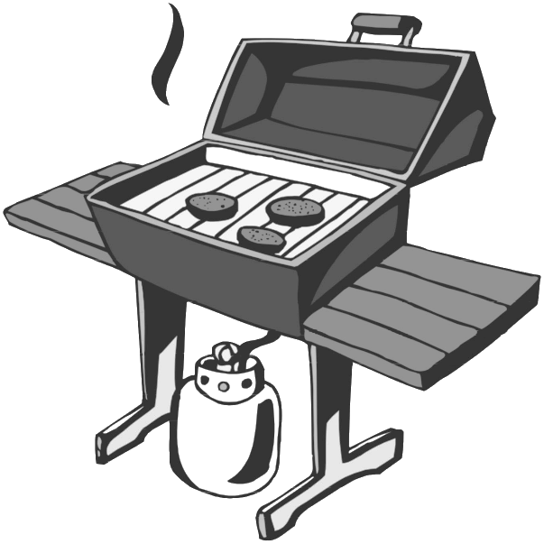 Barbecue gas grill free. Grilling clipart hungry