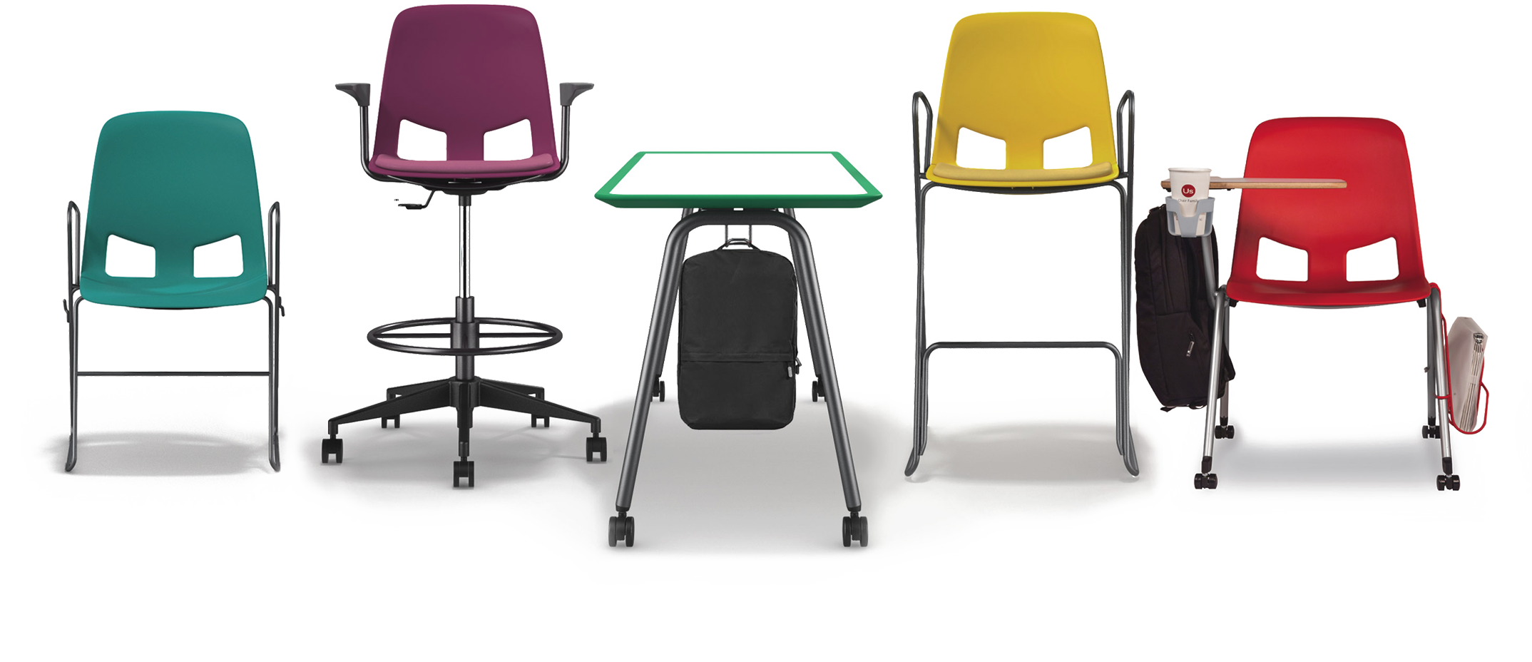Desk clipart attached chair. The us family a