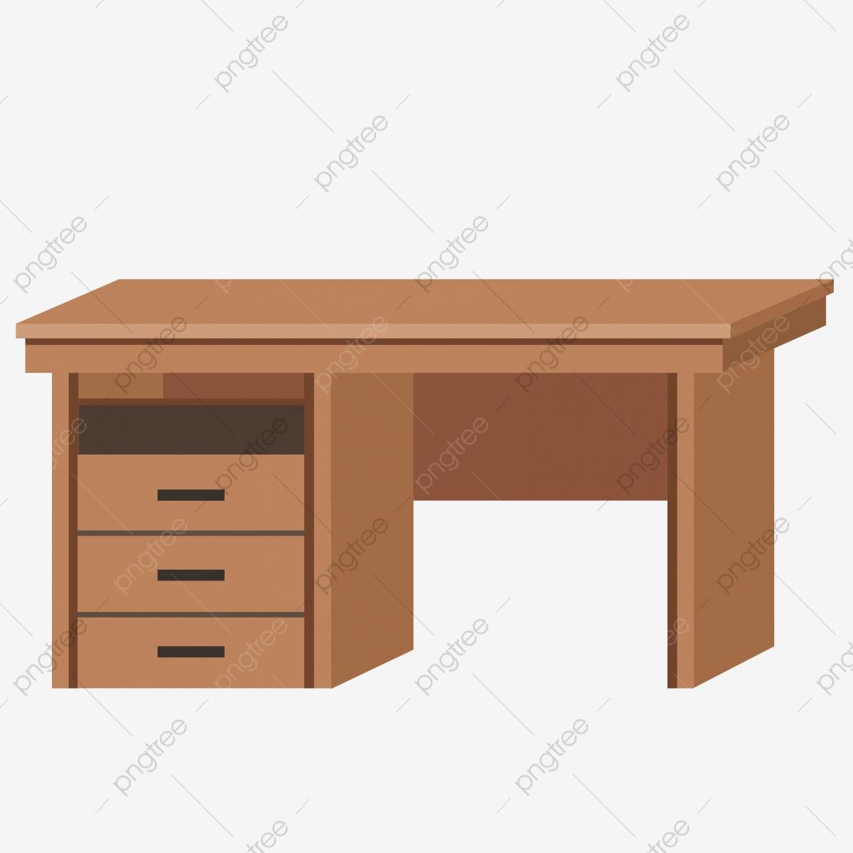 Desk clipart brown desk. Computer cartoon table cabinet