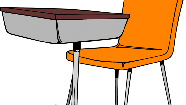 Desk clipart classroom. Coloring page image of