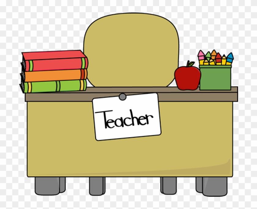 Desk clipart classroom full. Table teacher