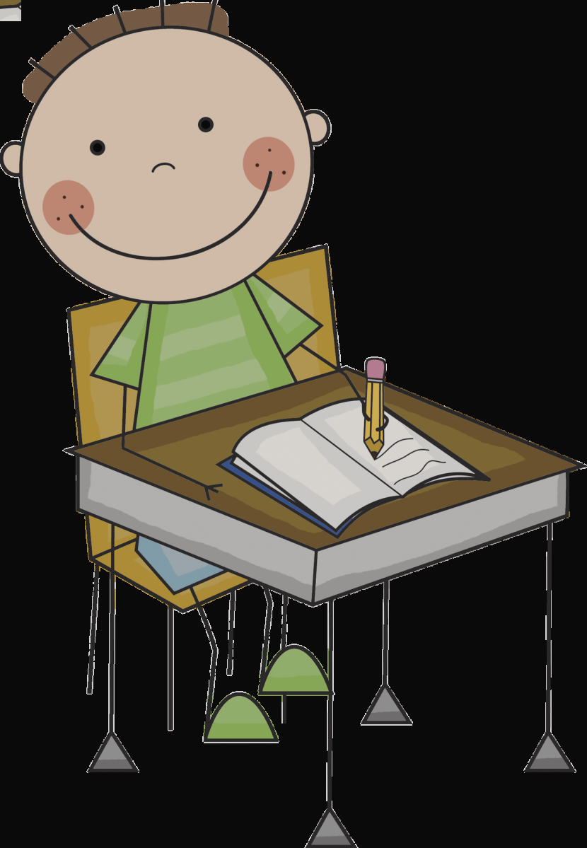 Clip art child and. Working clipart working