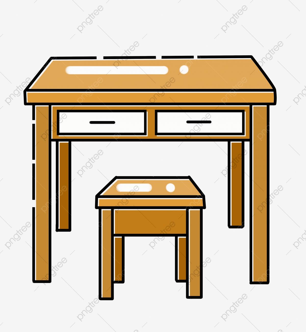 Small objects hot summer. Desk clipart cute desk