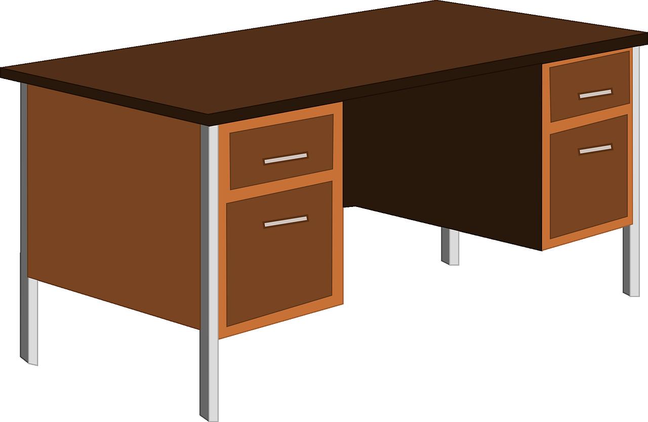 Desk clipart desk drawer. Office table cupboard png