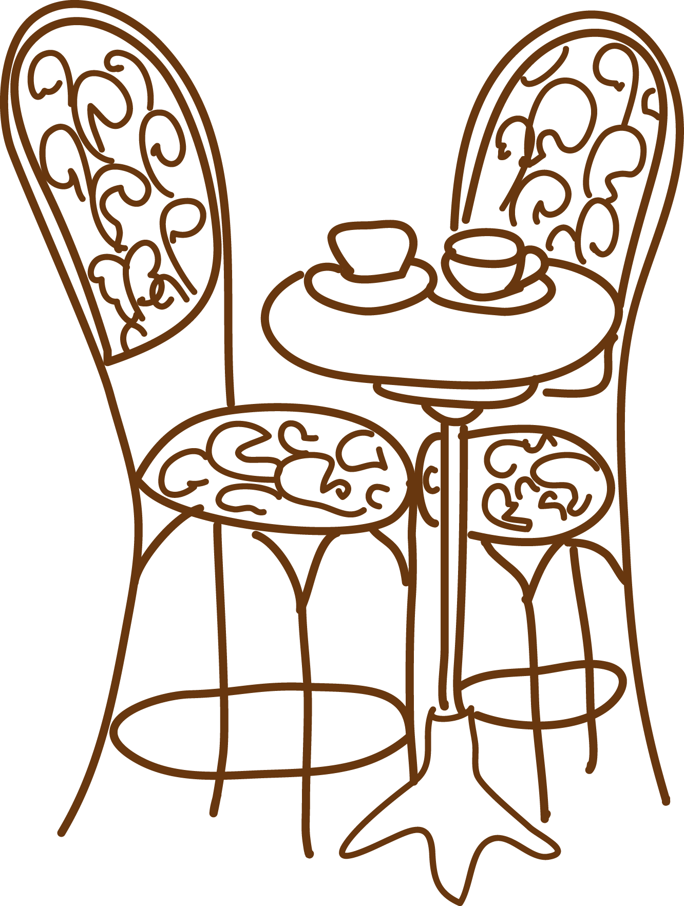 Excellent table and chairs. Furniture clipart une