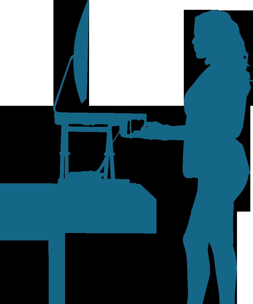Standing benefits improveposturepng. Desk clipart home desk