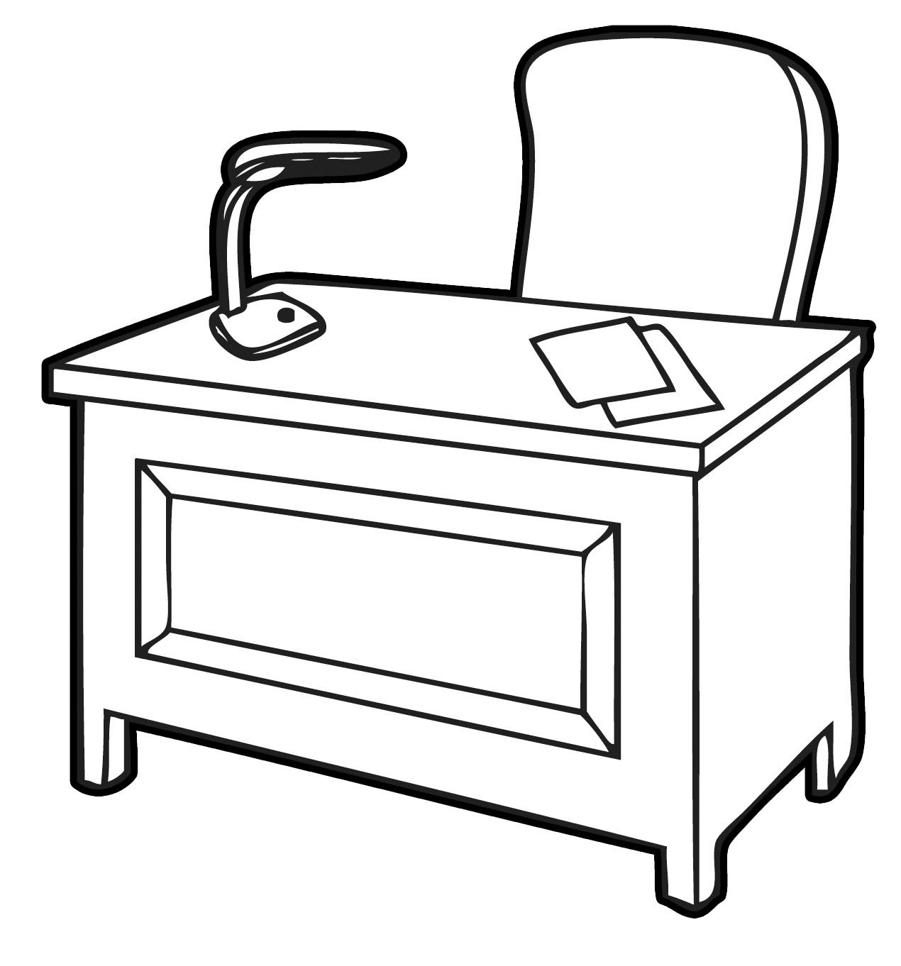Office messy clip art. Desk clipart home desk