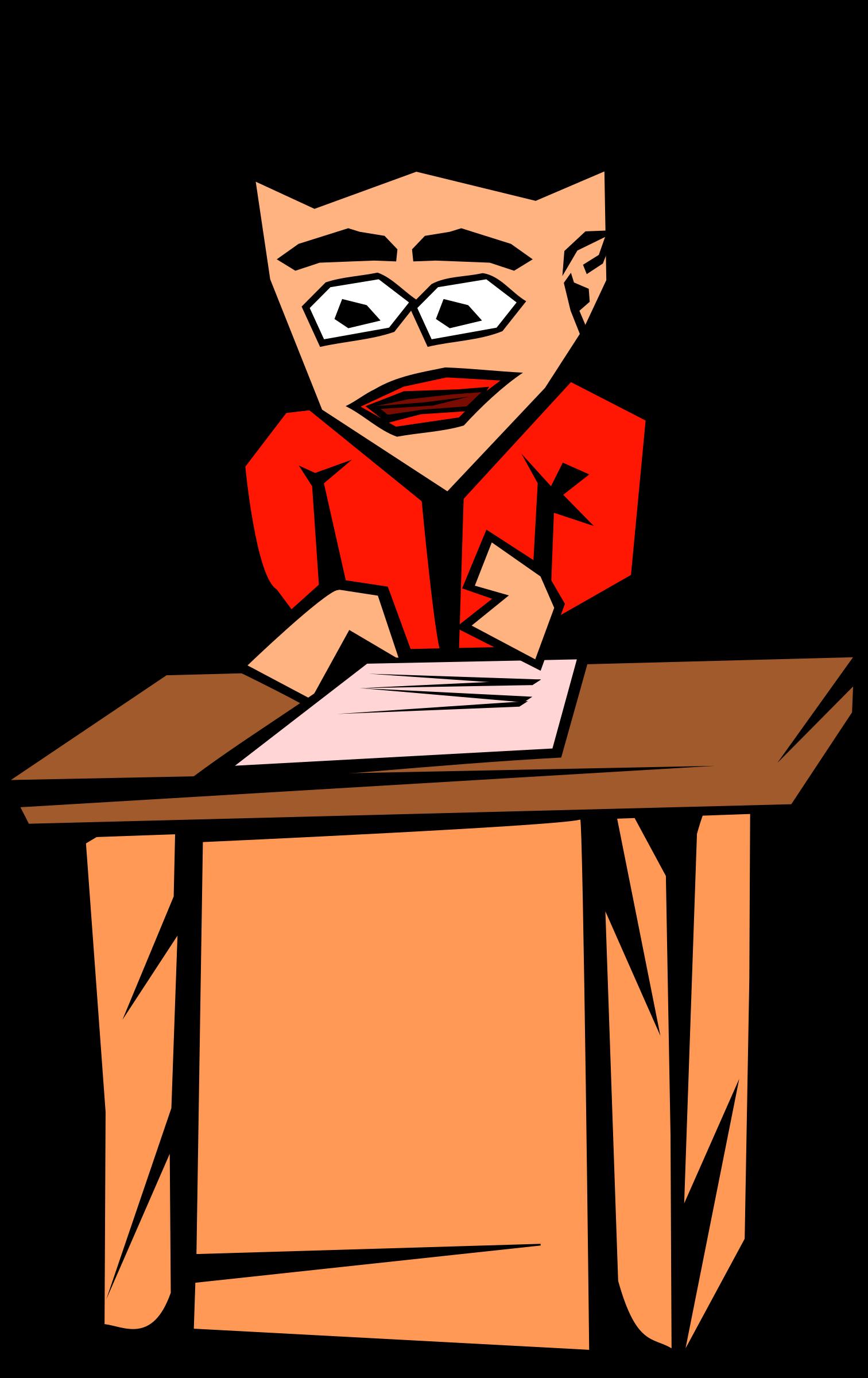 Desk clipart literature. Panic big image png