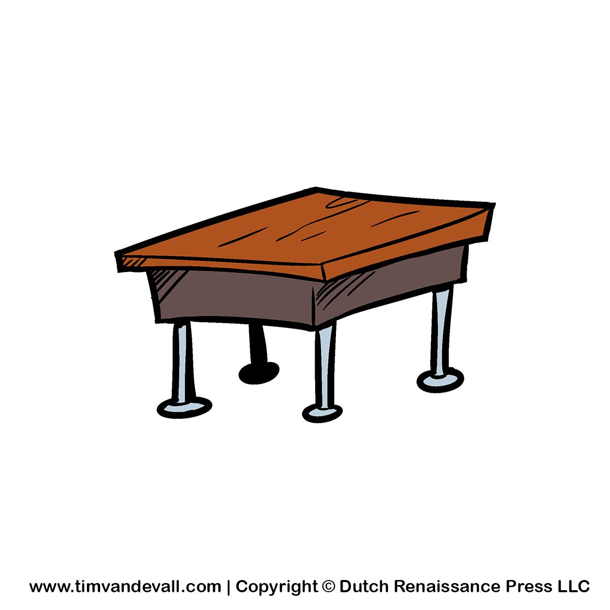Desk clipart small desk. Free classroom cliparts download