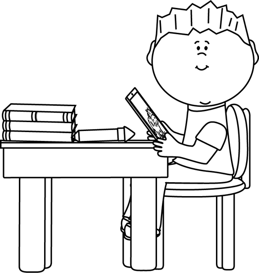 Desk clipart student technology. Free boy cliparts download