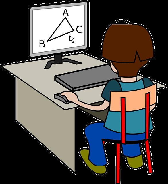 Free for teachers three. Desk clipart student technology