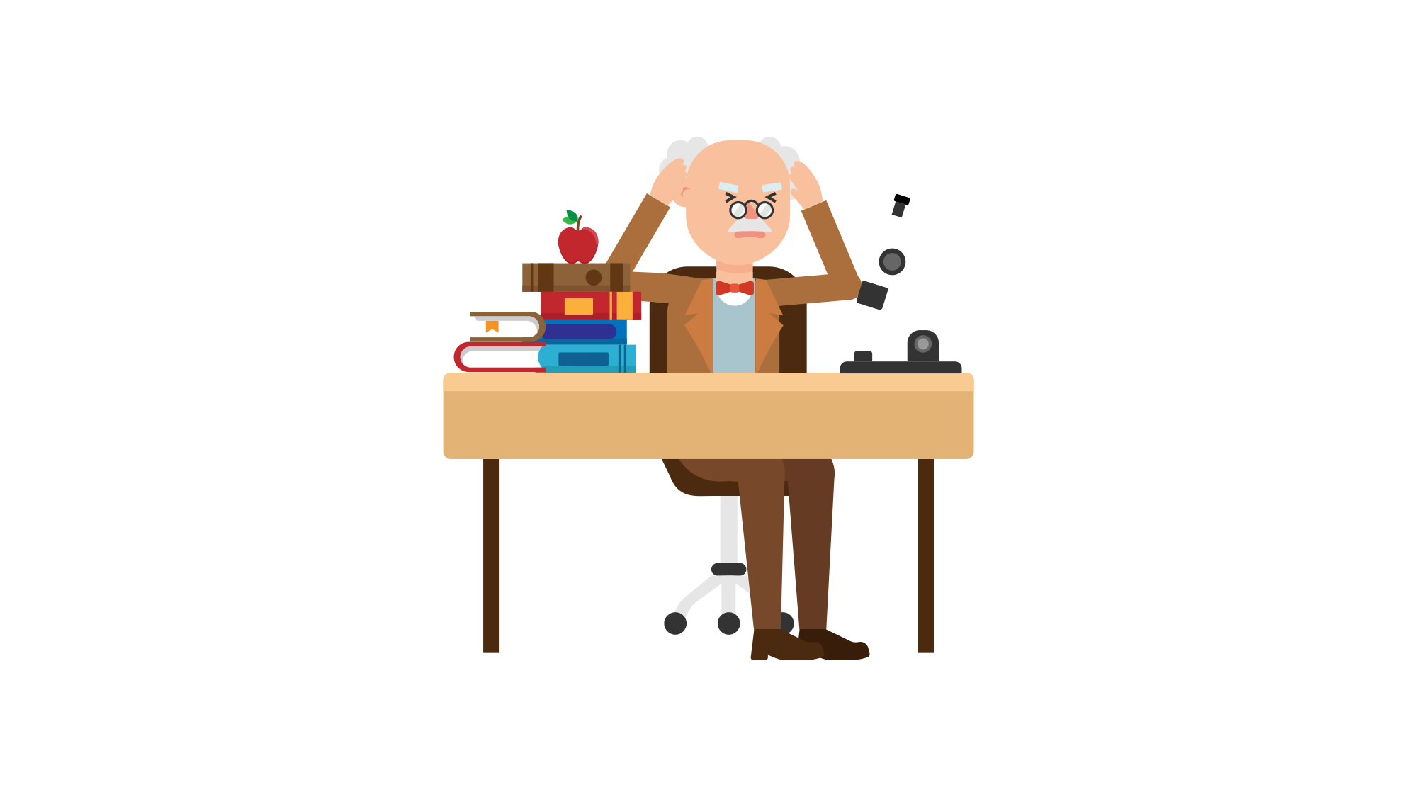 Log clipart history professor. File stressed at his