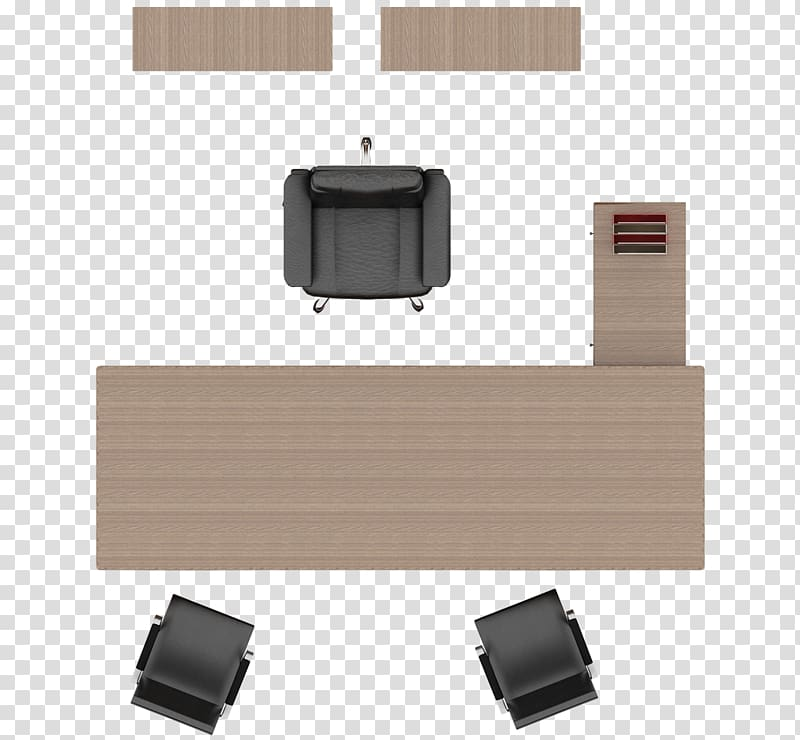 Desk clipart top view. Brown wooden table beside