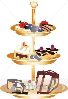 Dessert tray images. Desserts clipart