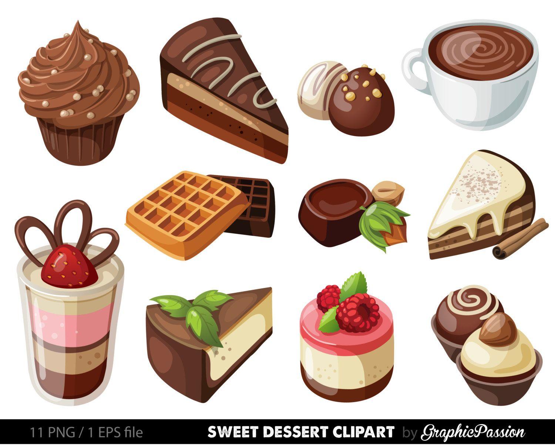 Dessert clipart. Google search desserts pinterest