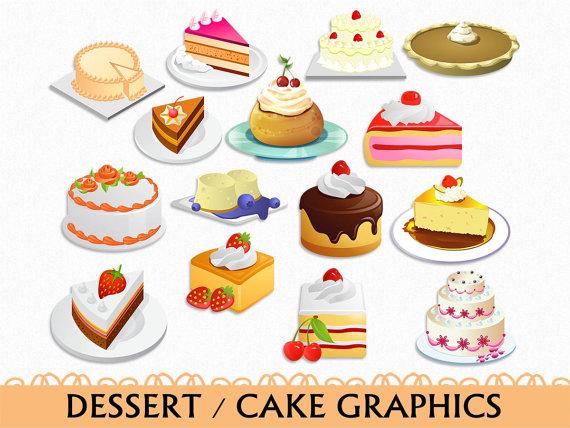 Cake clip art graphic. Dessert clipart