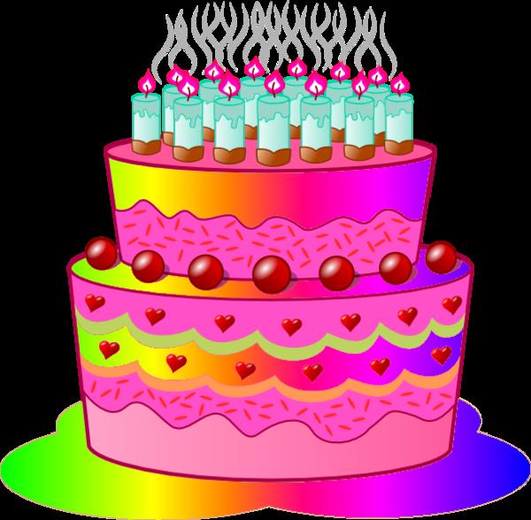 Birthday cake c free. Desserts clipart animation
