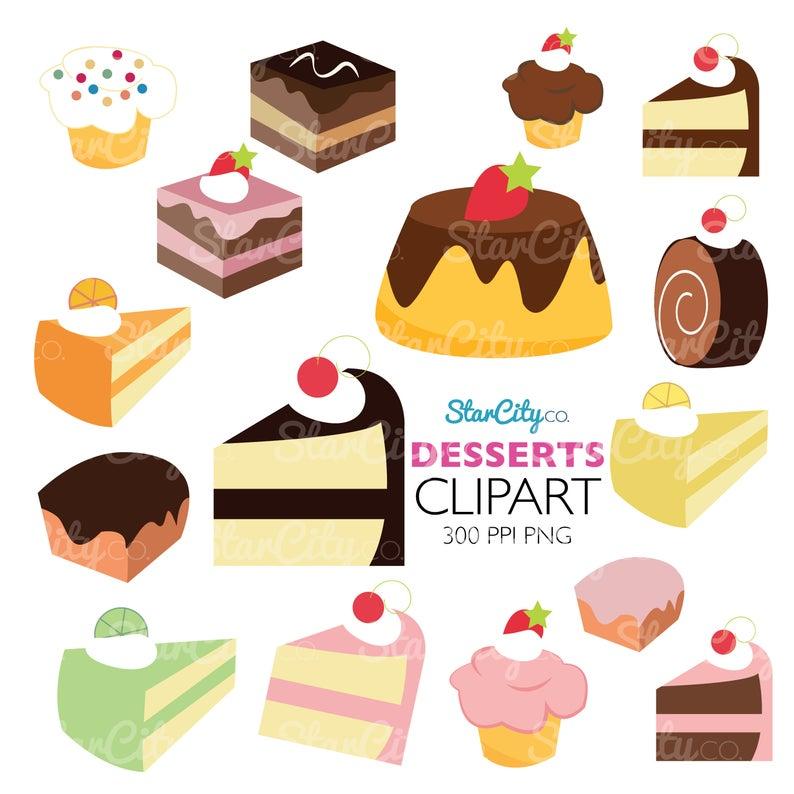 Pie clipart cake. Dessert clip art sweets