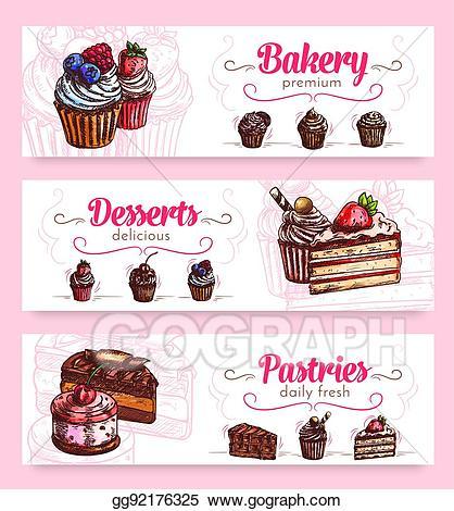 desserts clipart banner