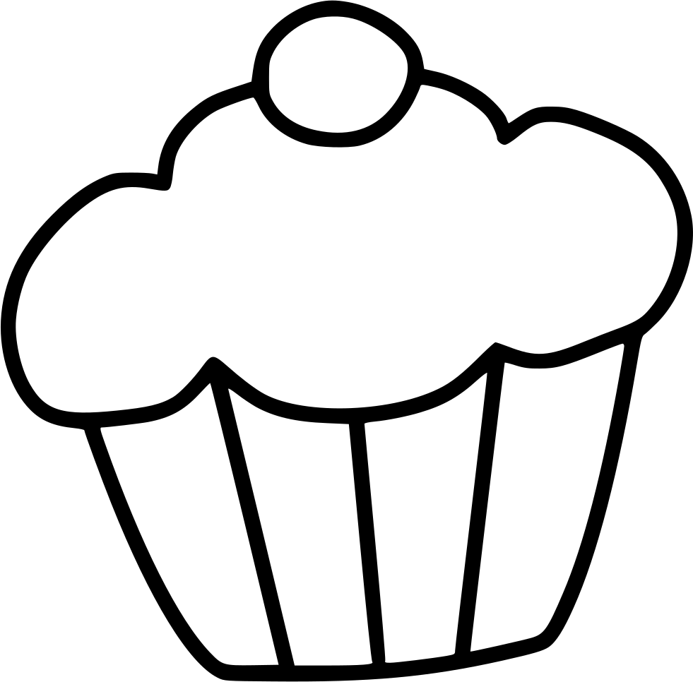 Desserts clipart black and white. Dessert drawing at getdrawings