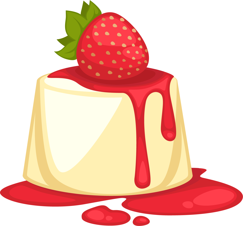 Parfait dessert sweetness illustration. Desserts clipart bread pudding