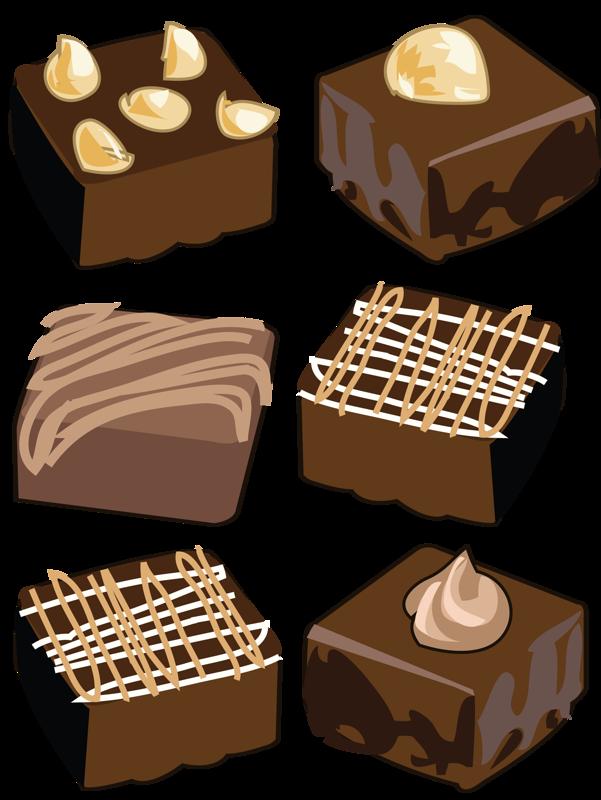 desserts clipart brownie