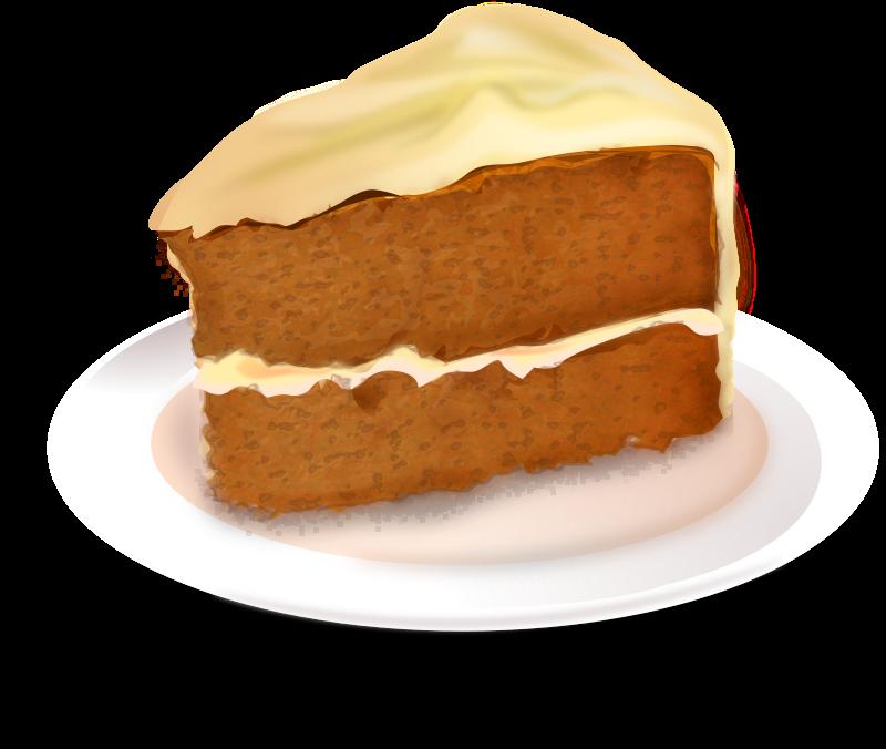Carrot cake medium image. Desserts clipart pastry