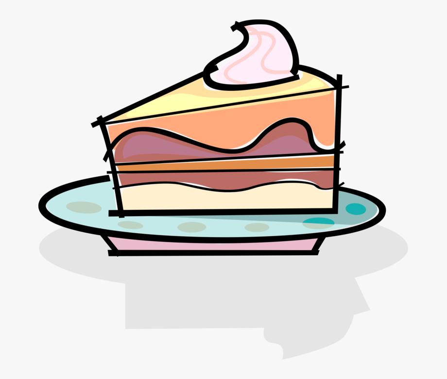 Slice of clip art. Dessert clipart cake