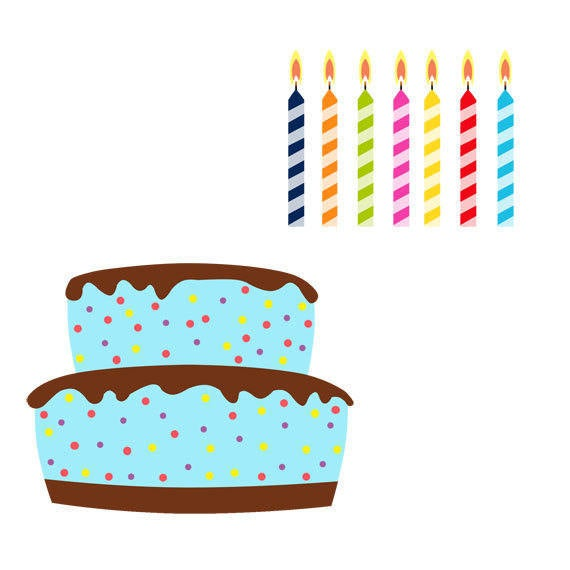 Birthday clip art set. Desserts clipart cake decorator