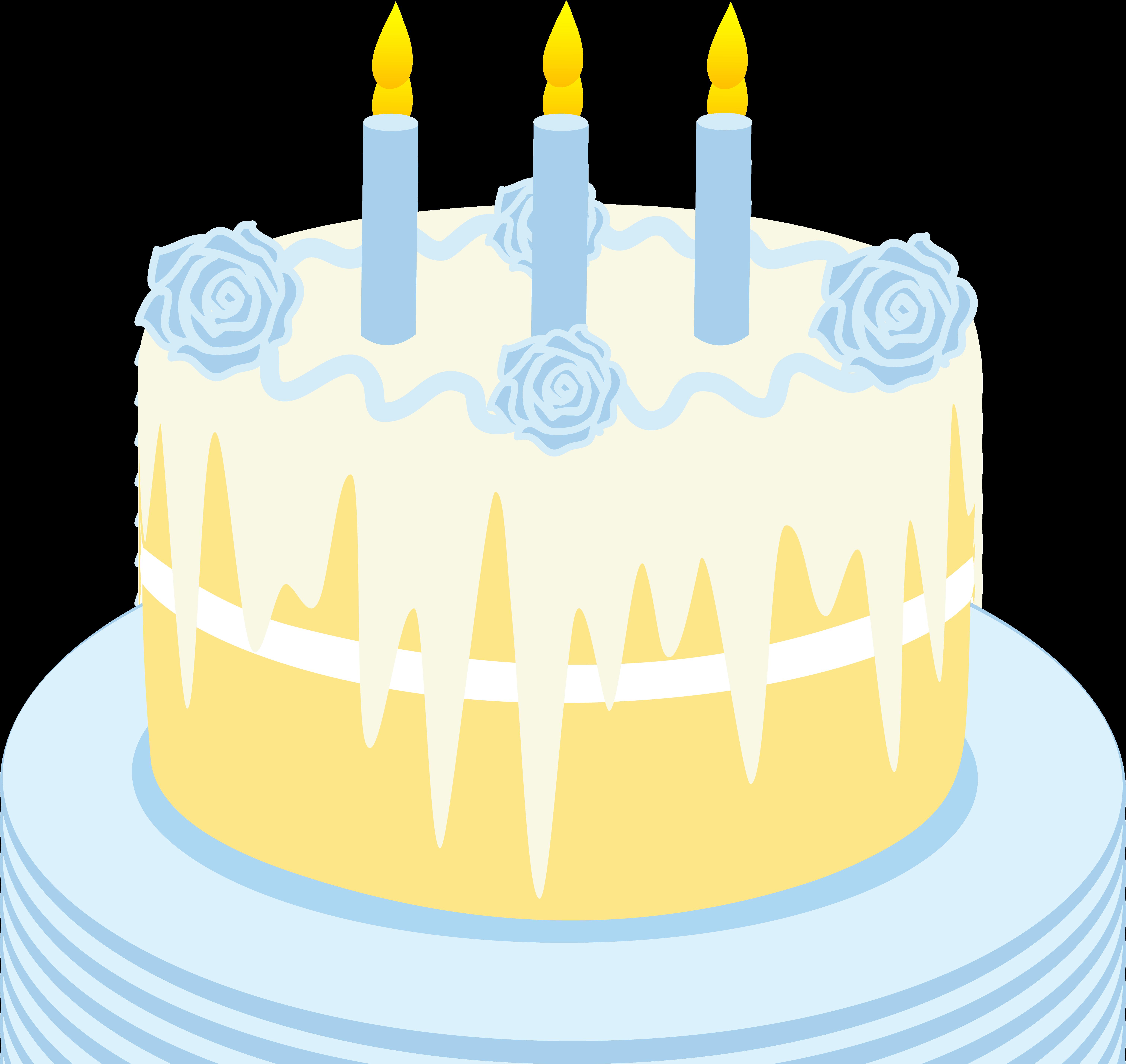 Desserts clipart baked goods. Vanilla birthday cake clip