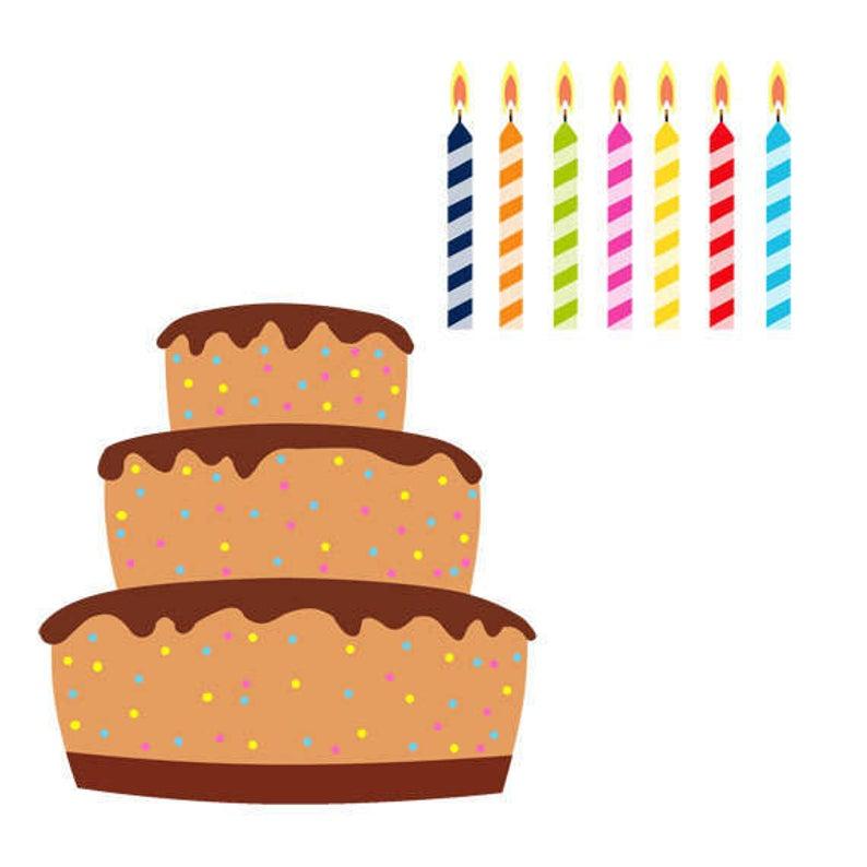 Dessert clipart cake decorator. Birthday clip art set