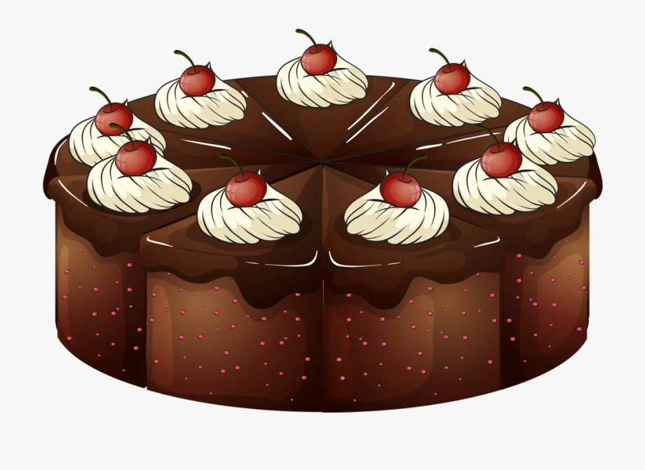 Dessert clipart chocolate tart. Pieces happy birthday cards