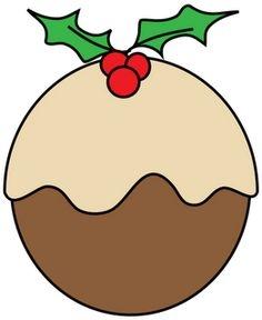 Pudding station . Dessert clipart christmas