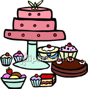 Desserts clipart dessert table. Clip art panda free